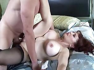 boobs fuck hardcore lingerie milf nylon redhead