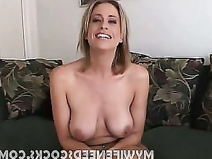 amateur blonde cumshot horny hot milf