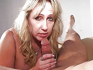 blonde blowjob bus busty couple mature