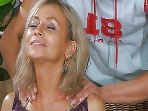 blonde blowjob couple masturbation mature milf