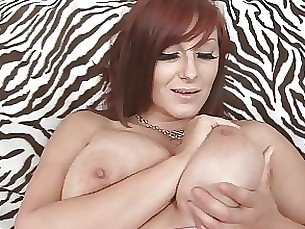 milf brunette playing