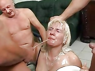 amateur blonde bukkake cumshot mature shower whore