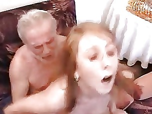 amateur blowjob daughter double-penetration fuck granny redhead