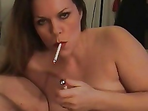 smoking blowjob mature amateur