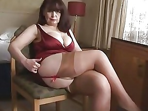 big-tits lingerie mature panties playing striptease tease