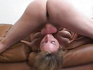 ass blonde blowjob couple fuck licking mature mouthful rimming