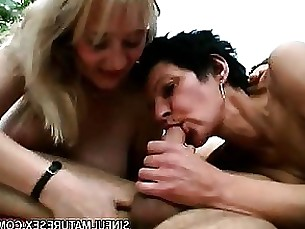 amateur blonde blowjob brunette mature nasty threesome