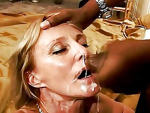 mature interracial hot cumshot blowjob
