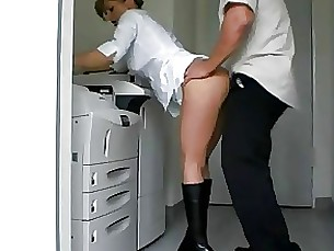 anal ass boss fuck milf office pov