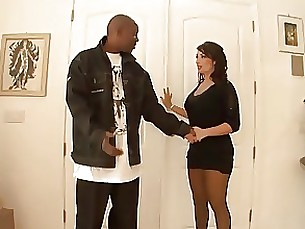 milf interracial horny ebony black anal