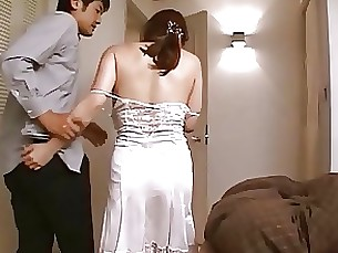 girlfriend wife japanese housewife gang-bang fuck mature