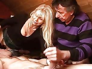 amateur blonde mature threesome
