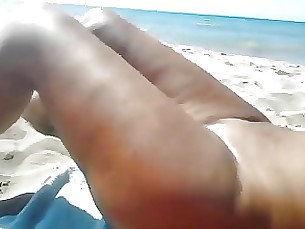 beach blowjob mature playing