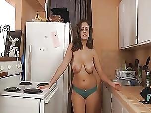 big-tits kitchen lingerie milf sister
