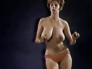 dancing milf redhead striptease vintage