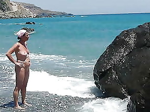 beach mature public