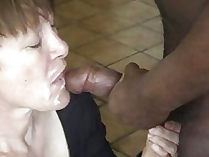 amateur blowjob cumshot hot interracial mature