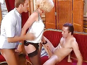 cumshot hot mature threesome