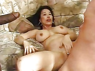 mature interracial gang-bang cumshot