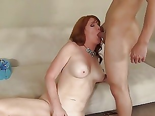 redhead pussy mature creampie