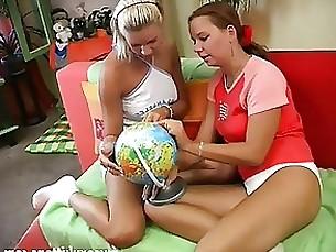 lesbian brunette blonde babe amateur milf mature