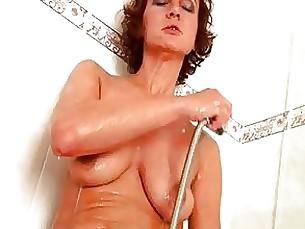 anal ass bathroom brunette fingering fuck masturbation milf pussy