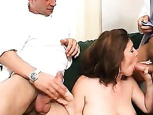 amateur anal brunette cute hardcore milf threesome