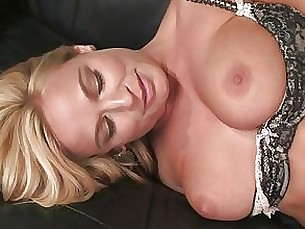 bdsm blonde blowjob couple milf slave