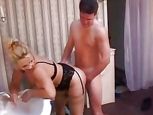 blonde milf oil toilet