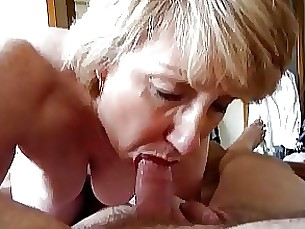blonde blowjob facials mature