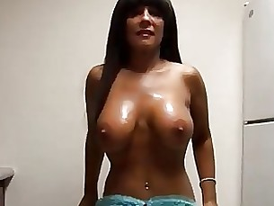 brunette bus busty mature oil