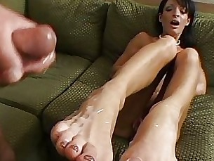 big-tits black blowjob boobs couple cumshot feet fetish foot-fetish