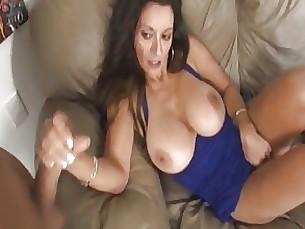 bus busty couple handjob masturbation milf pussy
