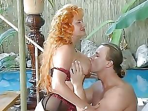 redhead pool milf mature hot fuck cumshot