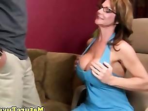amateur bus busty cougar handjob jerking mature milf pov