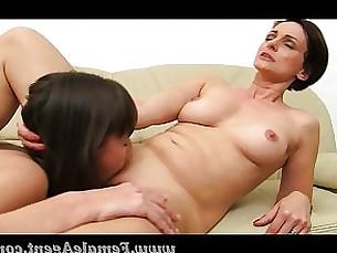 blowjob brunette lesbian masturbation mature milf office orgasm shaved