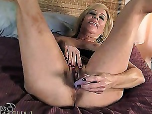 blonde horny mature toys