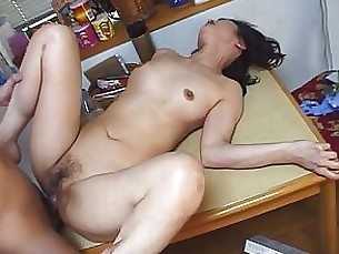 blowjob hot mature mammy japanese couple kitchen black