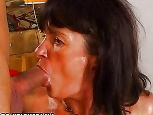 amateur anal blowjob brunette couple cumshot hairy masturbation milf