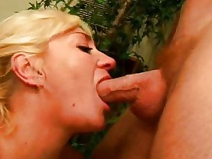 cumshot couple busty bus blowjob blonde milf mature granny