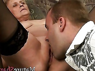 granny hardcore mature threesome blowjob