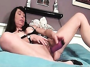 brunette granny hairy juicy masturbation mature solo toys
