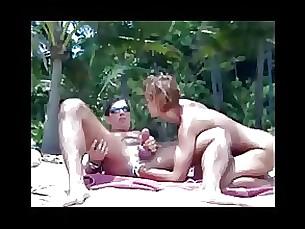 beach blowjob handjob milf