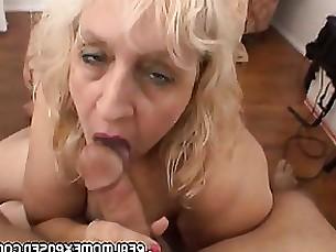 blonde blowjob cumshot facials granny mature milf