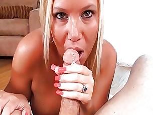 big-tits blowjob couple milf pornstar pov