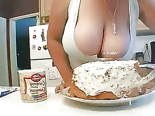 blowjob bbw kitchen mammy milf