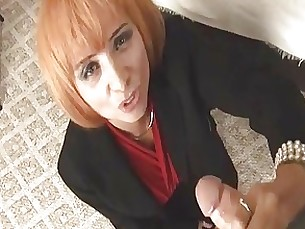 big-cock couple handjob masturbation milf redhead