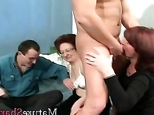 blowjob granny mature party