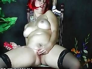 amateur bus busty masturbation milf redhead solo toys