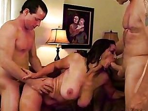 anal blowjob brunette fuck housewife mature threesome uniform wife
